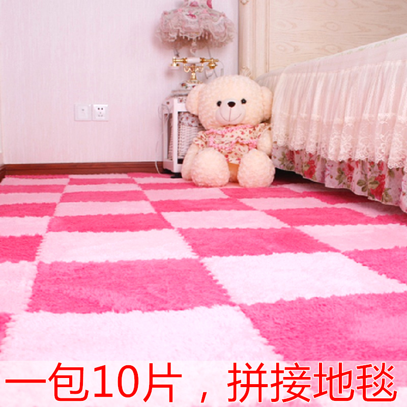 The bedroom carpet mats children baby plush thickened stitching tatami floor mat crawling puzzle