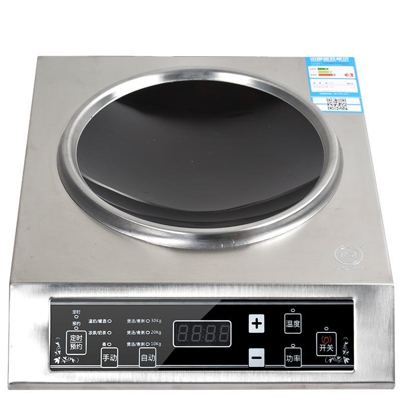 stor magt elektromagnetiske ovn 3500w konkave kommercielle hjem 爆炒 nye touch vandtæt rustfrit stål -
