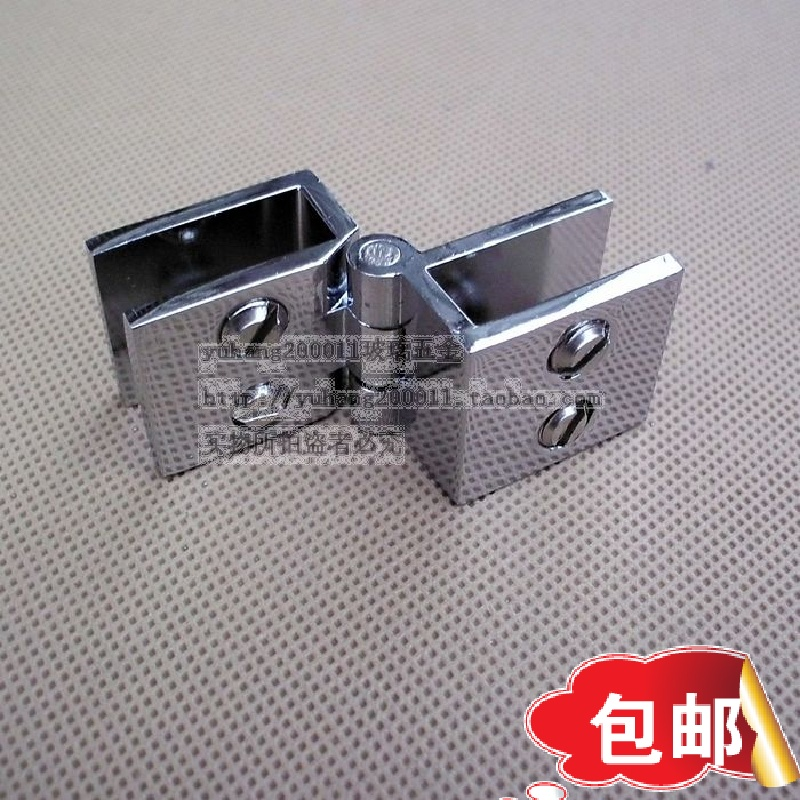 Thickened copper display cabinet, glass hinge door cabinet, glass hinge, no hole glass, small hinge, window hinge
