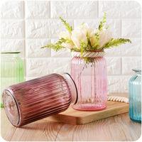 واسعة الرقبة زهرة زهرية الزجاج شفاف عديم اللون المائية