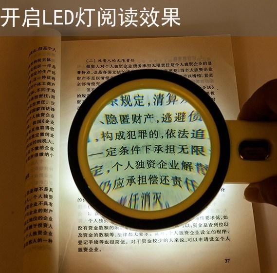 ручные лупа 20 раз оптических двойной объектив 100 мм с 12 светодиодные лампы высокой раз чтение идентификации старик