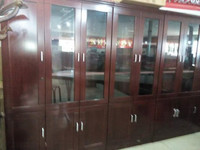 Manufacturers selling stickers paint of high density board 2 door 3 door free combination bookcase bookcase file cabinet