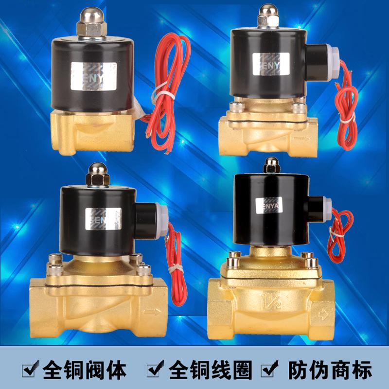 2w-160-152W serie elektromagnetisk ventil vand ventil normalt lukket ventil hele kobber kobber ring