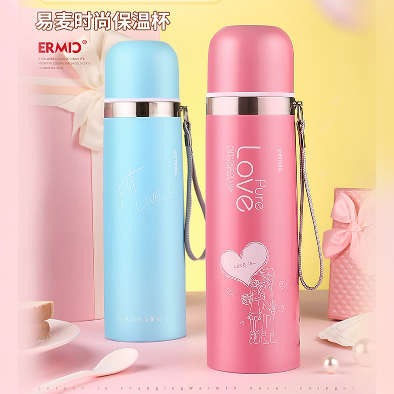 With stainless steel vacuum thermos cup, custom man has filter cup, tea cup, gift cup, printing and thermal insulation Cup