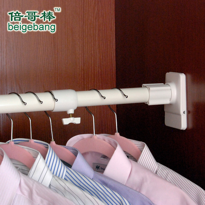 Times Great Of Extremely Strong Closet Rod Hanger Rod Telescopic Thickened  The Closet Wardrobe Clothes Rod Installation