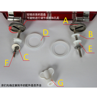 Toilet lid, toilet lid, thickened stainless steel hinge, resin toilet lid, hinged toilet lid fittings