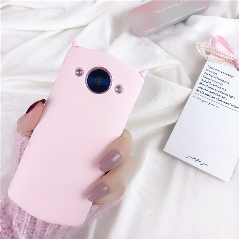 Mito T8 personality pink devil angle M8 mobile phone shell M6S monster angle M4S all inclusive anti break soft shell protective sleeve tide