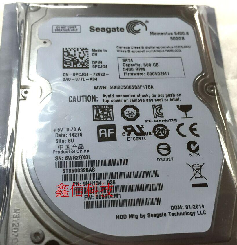 Seagate/ Notebook - festplatte Seagate ST9500325AS500G 2,5 - Zoll - 5400 rpm - sata - Port
