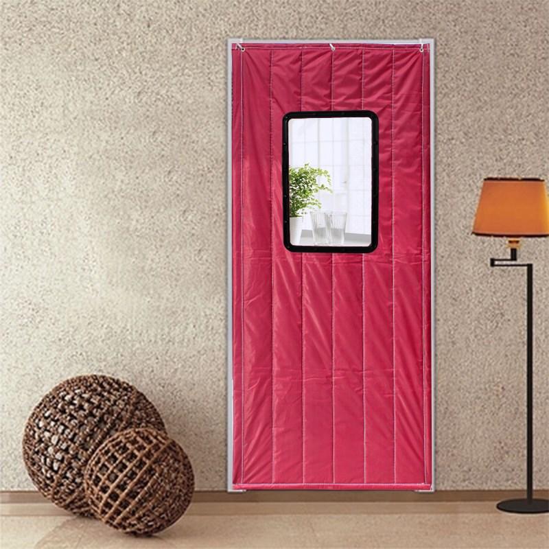 주문 에어컨 면직카텐 보력 겨울 따뜻하게 방풍 가정용 보온 칸막이 바람막이 방수 침실 방음
