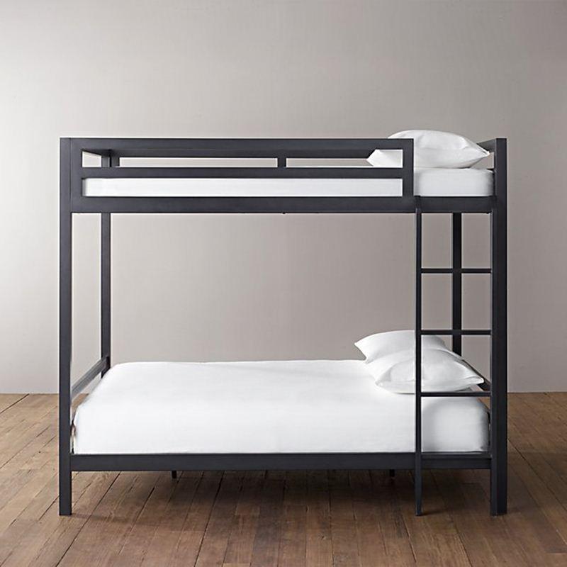 ダブルベッドに下に铁床高低離床成人寮ベッドの二段ベッドが1 . 2メートルの簡明な無垢材