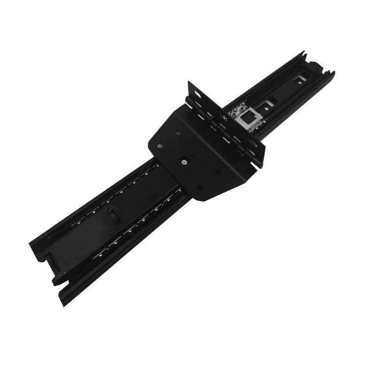 The three section flap hinge folding slide guide push-pull double mirror TV cabinet cabinet door track 45mm