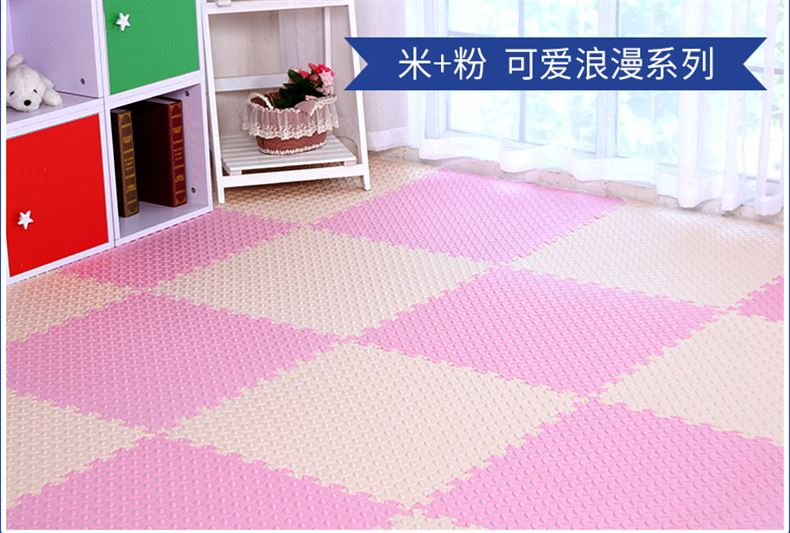 Foam mat bedroom floor puzzle large tatami mat thickening of 2.4 children crawling home