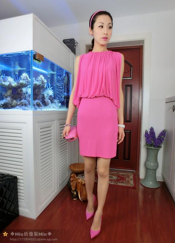 2014新款女鞋 独家玫粉色尖头高跟鞋 细高跟OL职业鞋图片_8