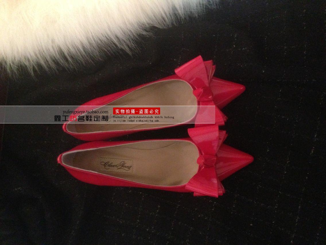 包邮 2014新款女单鞋 欧美风 超大立体蝴蝶结 真皮高跟鞋图片_10