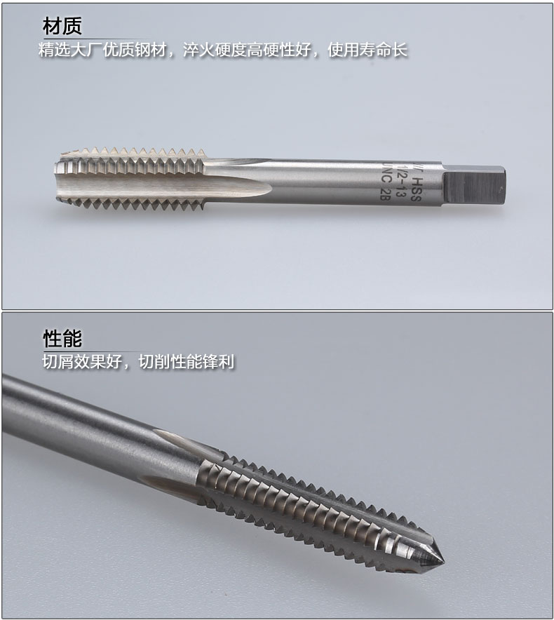 Tap tap HSS high speed steel production made straight slot machine 1 inch 3/8-14UNS-16UN-18UNEF