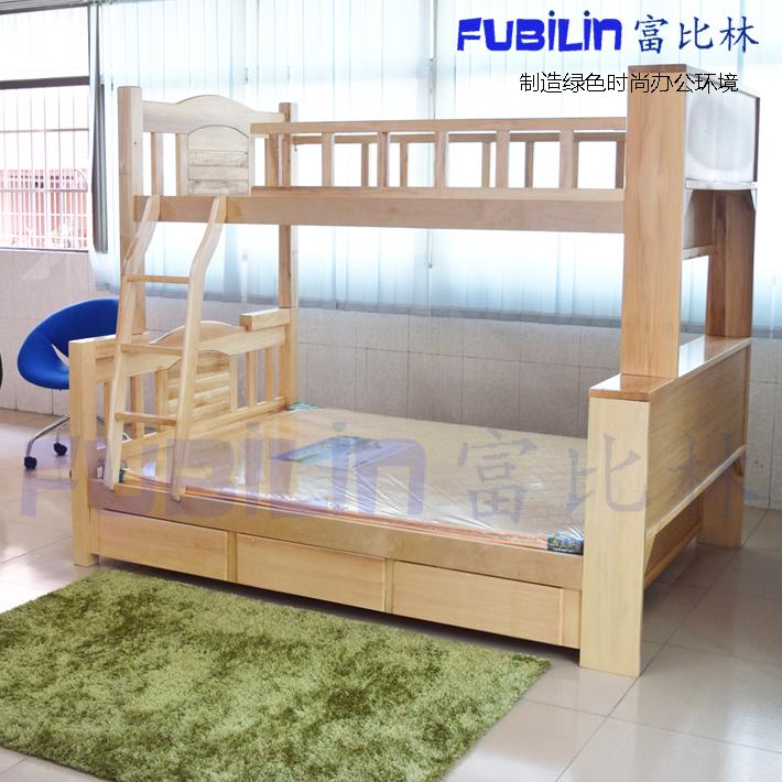 El paquete especial de la cama y la cama doble de madera maciza de madera de los niños por la altura de la cama con cama de madera de cajón de los estudiantes
