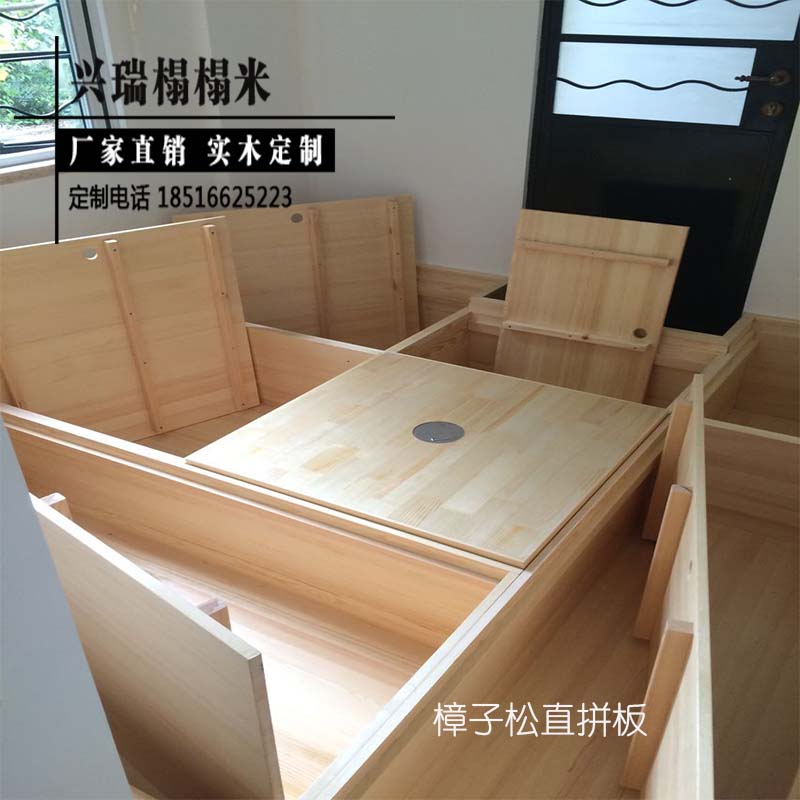 Shanghai tatami wood custom study group and tatami bed bedroom storage type platform manufacturers selling