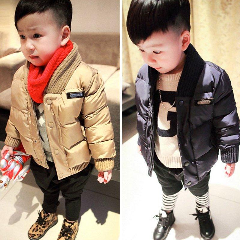 1-5岁2儿童宝宝4韩版羽绒棉衣加厚款中小男童3冬季反季清仓棉袄潮