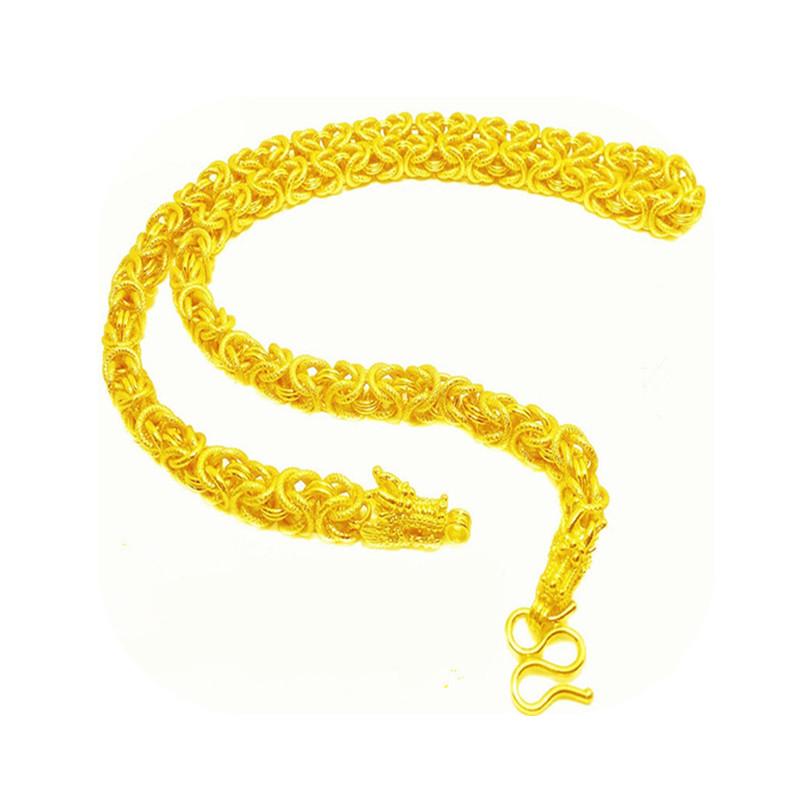den højere mand, tidevand, 24k guldkæde i thailand - kæde - perle guld - halskæde i lang tid ikke forsvinder.