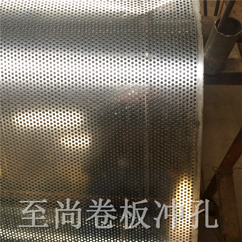 Factory spot galvanized punching plate, galvanized coiling board circular hole net, stock punching net