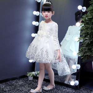 童装女童秋装连衣裙2018新款小女孩洋气公主裙子儿童长袖蓬蓬纱裙