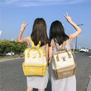 小清新可爱双肩包ins同款超火学生书包女2019新款大容量电脑背包