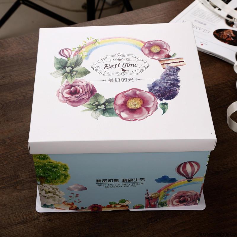 郵送する!焙煎包装ボックス6寸8寸10寸12寸のケーキ箱
