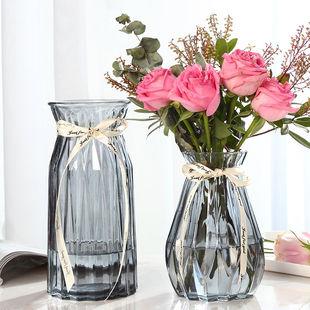 创意花瓶玻璃透明水养客厅