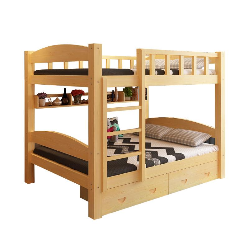 Los niños en la cama de la altura de la cama litera superior e inferior de la cama de la cama y cama doble cama dormitorio de los estudiantes de la