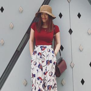 睿怎设计2018夏季新款纯色简约T恤女韩范柔软百搭圆领短袖体恤衫