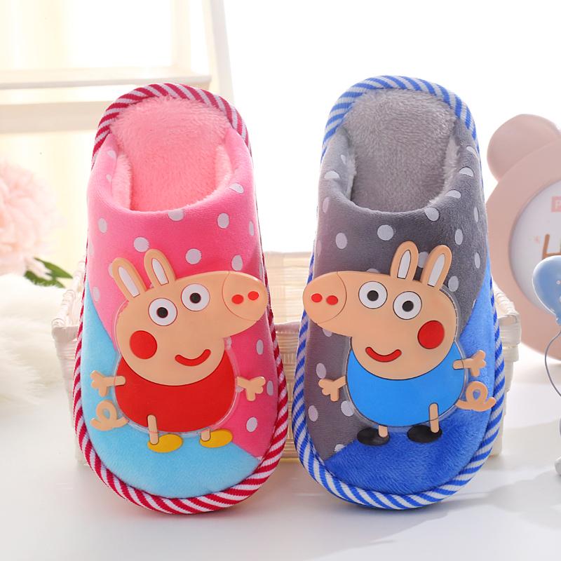 儿童棉拖鞋秋季3男童女童宝宝拖鞋冬天男孩女孩托鞋4-5-6-7-8-9岁