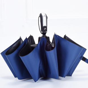折叠开收大号全自动三折晴雨两用伞