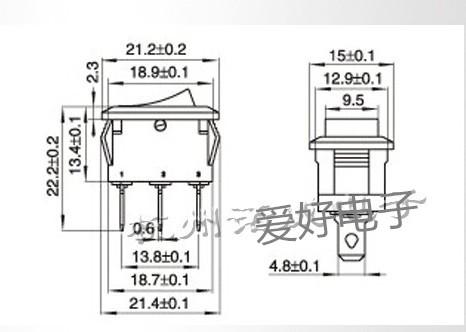 KCD1-1012/8A250V ключ на крака черен кораб 3 2 файл може да бъде ac захранването.