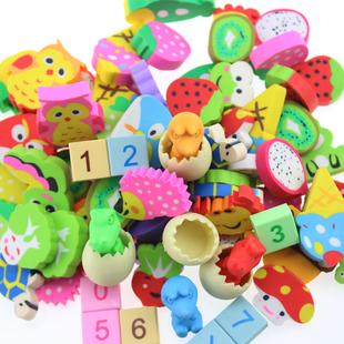 卡通橡皮擦可爱小学生橡皮创意儿童学习文具60个奖品礼物