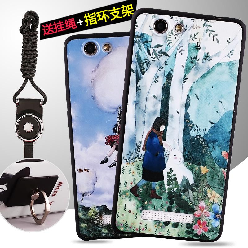 Jin Jin - M5 M5 mobile shell capa protetora com alça de pescoço para Homens e Mulheres anel de Casca mole