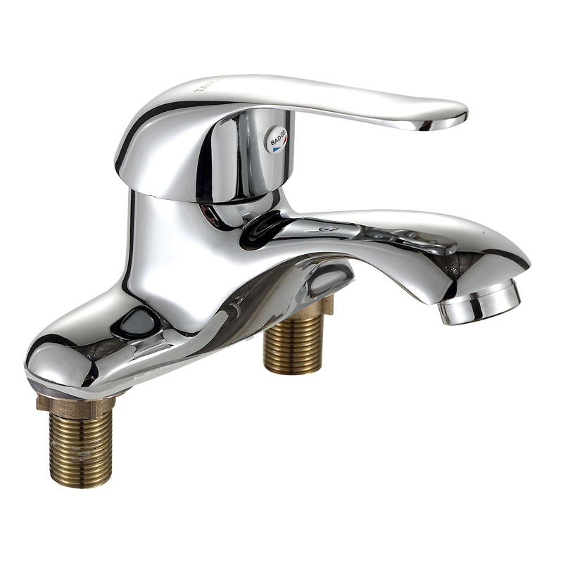 Kitchen, all copper kitchen, hot and cold faucet, dish washing basin, swivel faucet, single hole ceramic valve core, high bend faucet