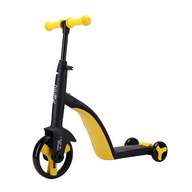 纳豆nadle三合一儿童滑板车1-2-3岁小孩男女溜溜车滑滑车宝宝可坐