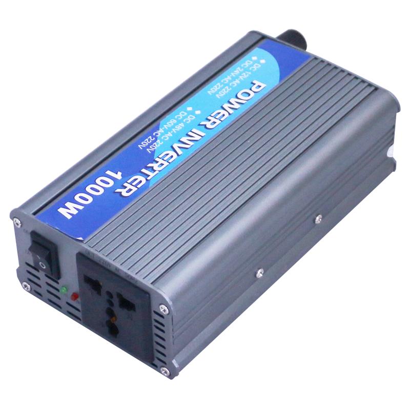 Gris onduleur 1000w ordinateur multifonction chargeur rotatif auto - transformateur AC 220 DC12V