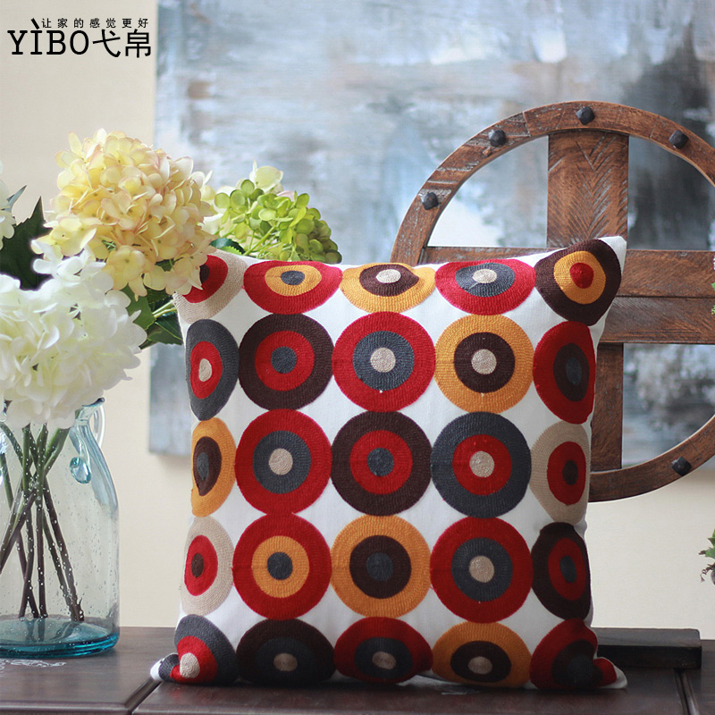 The cotton pillow covers IKEA dot geometric creative pillow cushion sofa bed cushion cover Office