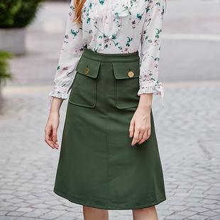 LADY STORE复古半身中裙秋季新款品牌chi