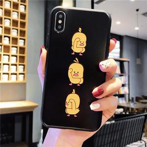抖音同款iphone8plus手机壳xr苹果xsmax跳舞鸭7网红6s保护套华为Pmate20pro防摔oppor15小米8vivox21外壳男女