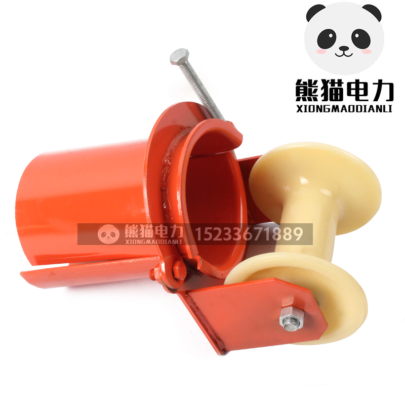 Pulley pulley cable straight pipe mouth car cable cable pulley triple pay-off pulley pulley V-type corner slip
