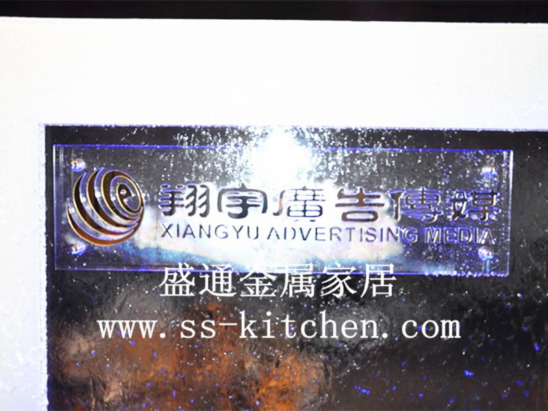 Die AXA - Glas Wasser durch maßgeschneiderte Edelstahl sein Image - Feng - Shui - Wasser Wand