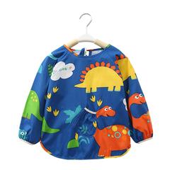 宝宝罩衣秋冬季防水儿童围裙反穿衣男女孩小童吃饭衣长袖婴儿护衣