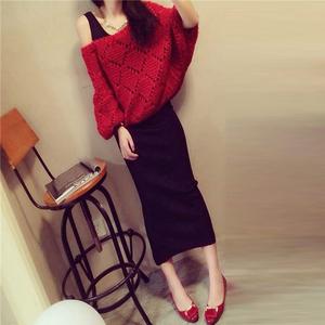 21韩版潮2018秋冬新款套装夜场女装圆领小香风洋气时髦两件套裙子