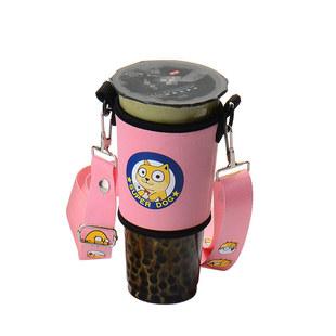 奶茶杯套斜挎定制印字环保手摇杯套含背带便携创意水杯套抖音同款