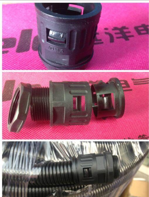 SM-G manguera tubo corrugado de articulaciones, tubo conector negro, negro AD34.5AD42.5AD54.5