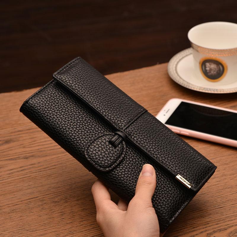 Une femme Secrétaire général coréen de personnalité au portefeuille velcro portefeuilles de grande capacité, jour après jour, Mme portefeuille multifonctionnel de sac à main