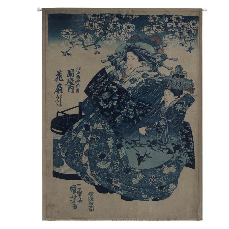 anpassning av bomull, japansk ukiyo - e - kök, sovrum, vardagsrum gardiner gardiner dela ridån av feng shui.