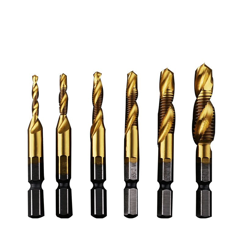 New six corner drill tapping and chamfering integrated screw tap compound tap, tapping machine tap M3